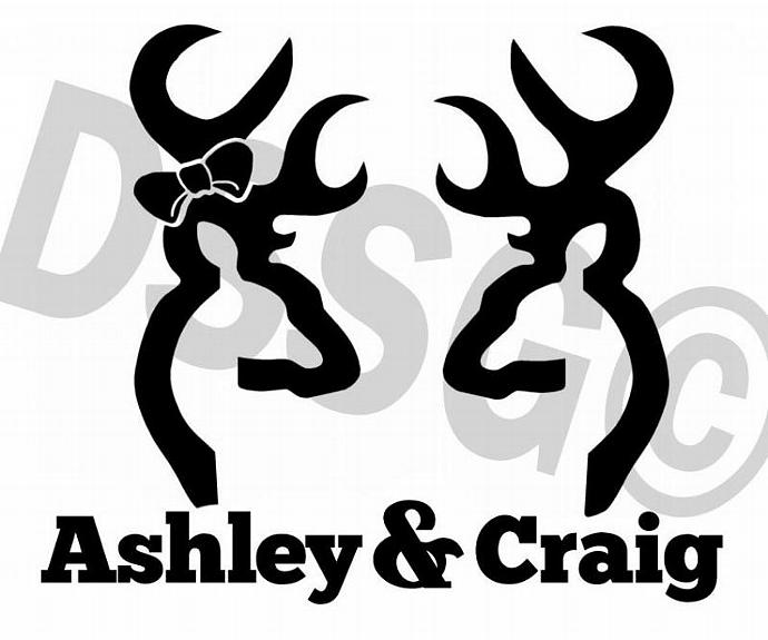 Personalized HisHer Browning Vinyl Designstudiosigns - Browning custom vinyl decals for trucks