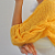Handmade Mustard Cable Mohair Shrug / Bolero
