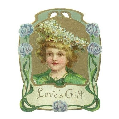 Vintage Valentines Day Greeting Card Embossed Die Cut Boy 1900s
