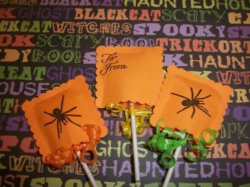 Halloween party favor Spider Lollipop Sleeves 10ct