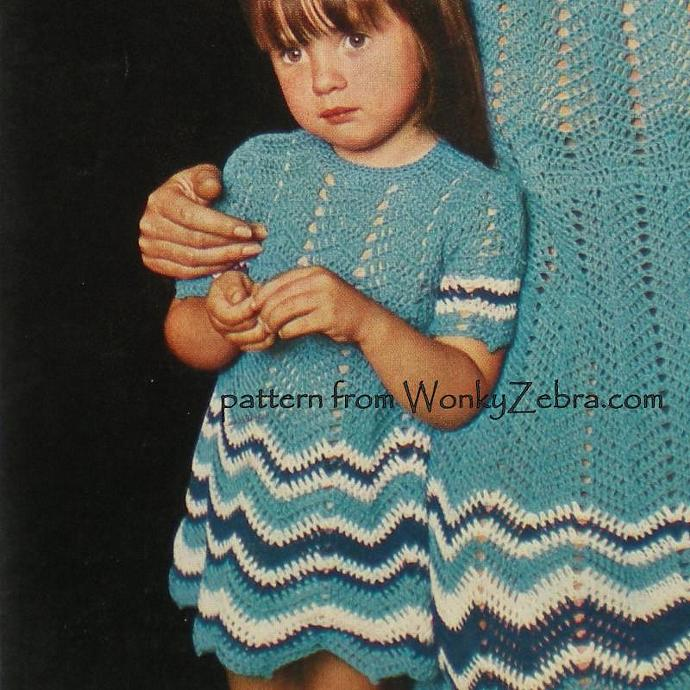 Vintage Crochet Pattern 005 Mother and Daughter Dress for Summer from WonkyZebra