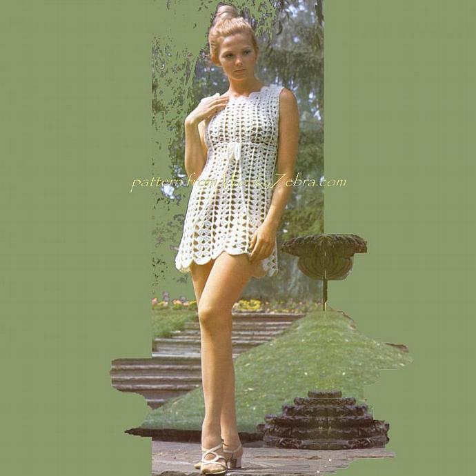 Vintage Crochet Pattern PDF 169 Goddess Dress from WonkyZebra