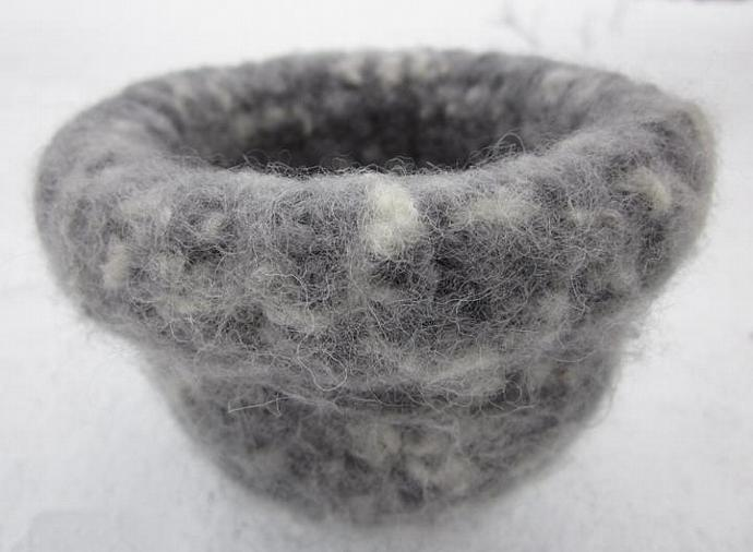 Country Rustic Cottage Chic Felted Wool Bowls