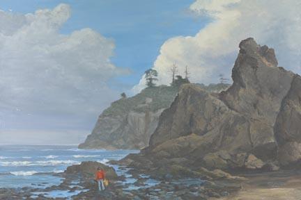 """Beachcomber"" Giclee Paper Print by Carol Thompson"