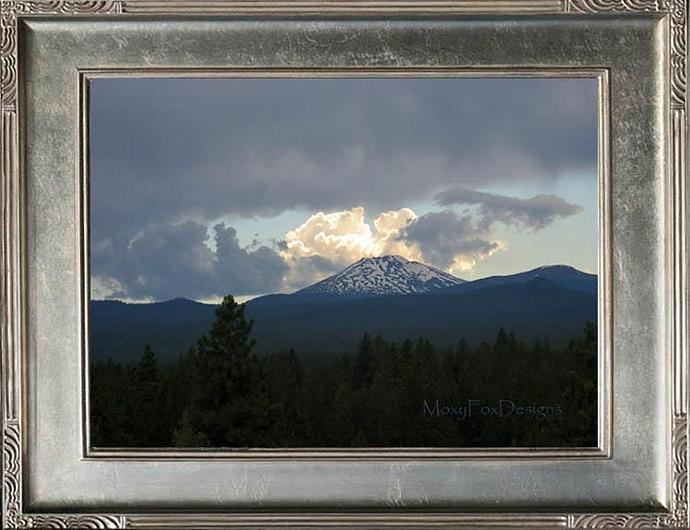 Art -- HIGH DESERT STORM  Fine Art Photograph Bend, Oregon 8 x 10 Mount Bachelor