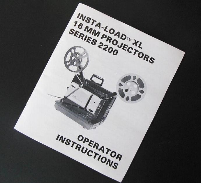 Telex Insta-Load XL 2200 Owner Manual Instruction Book Original Paper Film