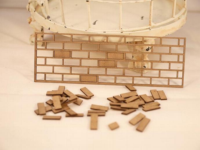 Chipboard brick wall no.1 -2 pieces