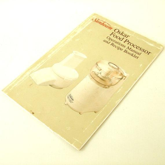 Sunbeam Oskar Instruction Owner's Manual Recipe Booklet food processor 14081