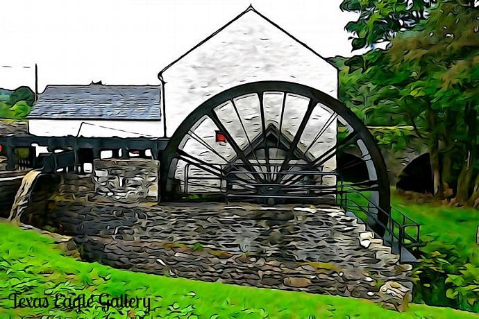 The Auld Mill fine art print