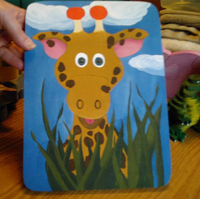 Childrens Giraffe Tray Puzzle