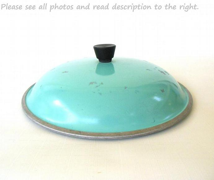 Club Aluminum Cookware Lid Turquoise Dutch Oven Pot Pan Skillet 10.25""