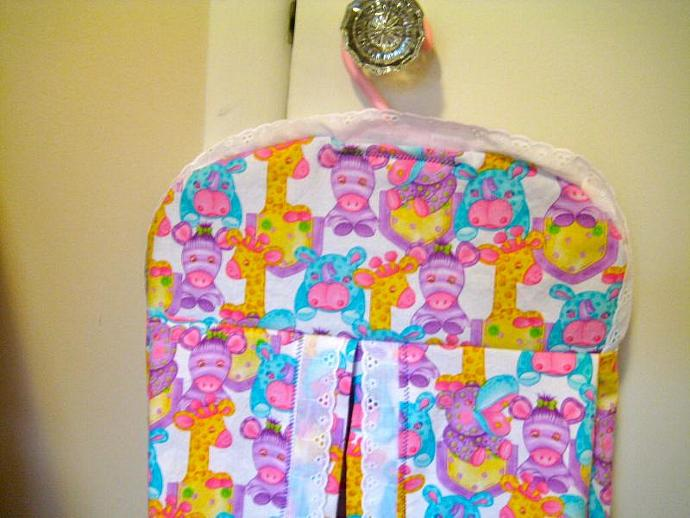 Pastel Zoo Diaper Stacker
