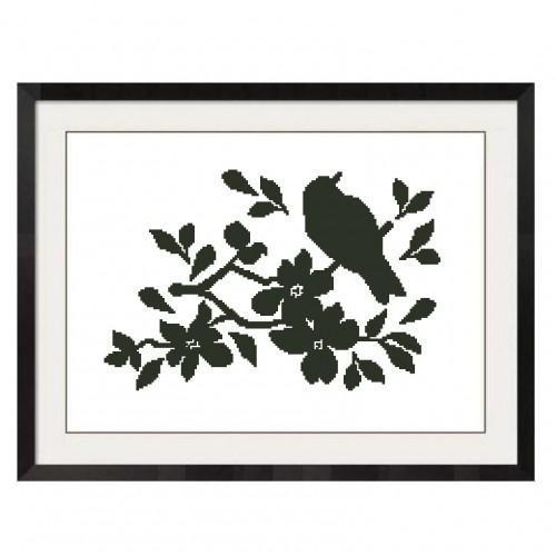ALL STITCHES  - BIRDS ON A TREE BRANCH CROSS STITCH PATTERN .PDF -650