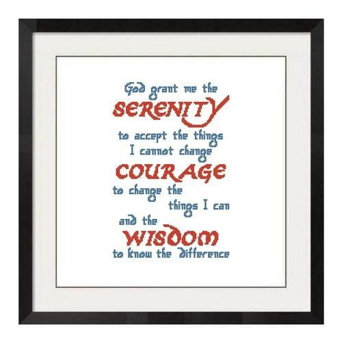 ALL STITCHES - SERENITY PRAYER CROSS STITCH PATTERNS .PDF -686