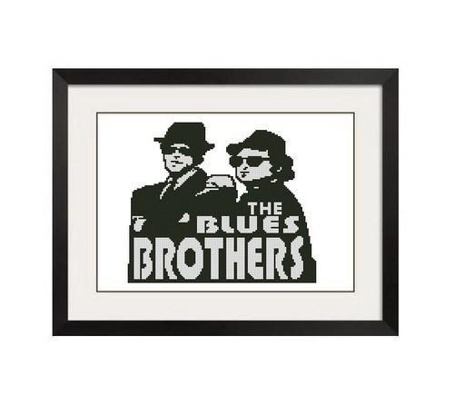 ALL STITCHES - BLUES BROTHERS CROSS STITCH PATTERN .PDF -255