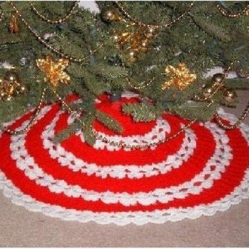 Easy Crochet Christmas Tree Skirt: ALL STITCHES - CROCHET CHRISTMAS TREE SKIRT