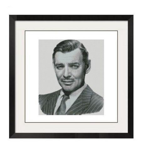 ALL STITCHES - CLARK GABLE CROSS STITCH PATTERN .PDF -274