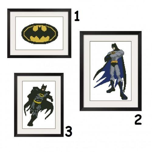 ALL STITCHES - 3 PATTERN SET - BATMAN CROSS STITCH -112