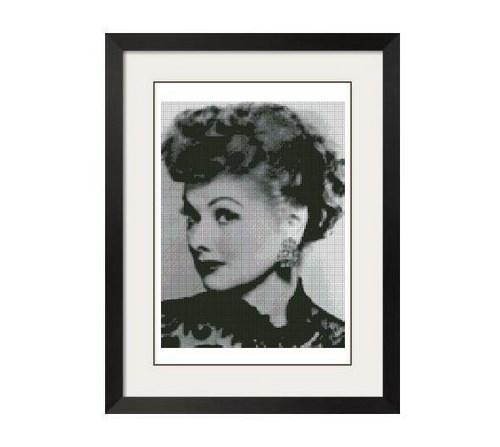 ALL STITCHES - LUCILLE BALL CROSS STITCH PATTERN - .PDF -595