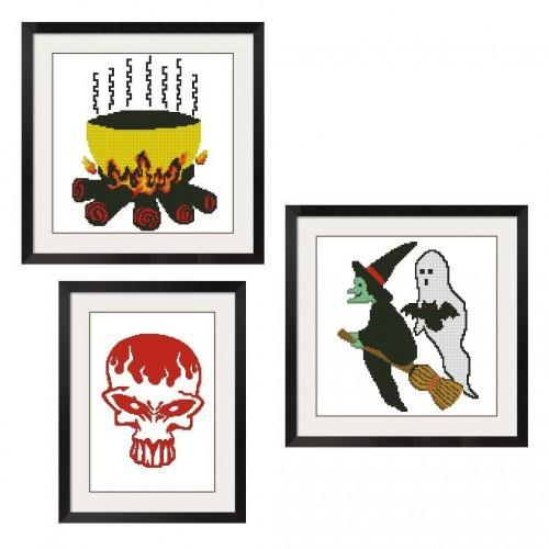 ALL STITCHES - GET ALL 3 HALLOWEEN CROSS STITCH PATTERNS .PDF -246