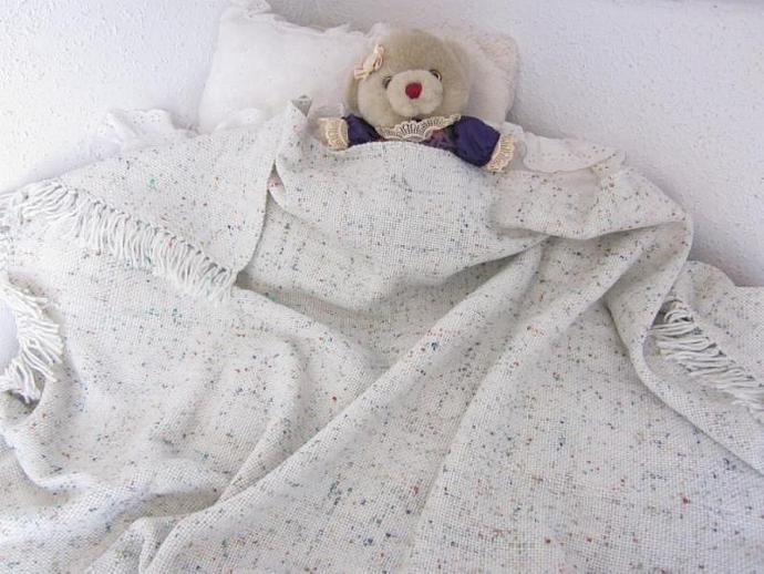 Large Handwoven Baby Blanket for boys or girls