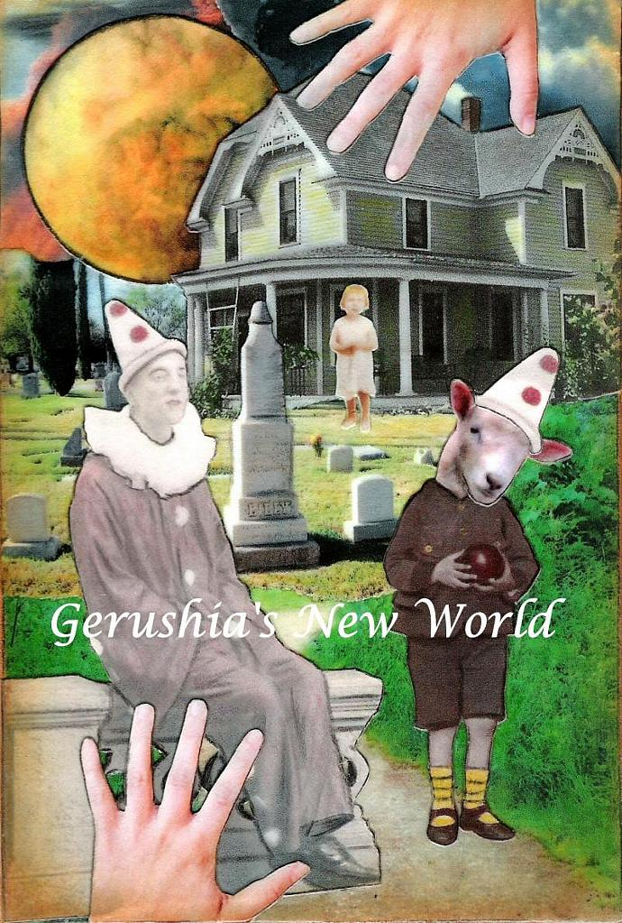 Miss. Lilly's Roadside Motor Hotel ~ Anthropomorphic Watercolor Collage Print