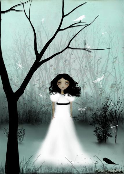 melancholy art print, I Will Be Your Light