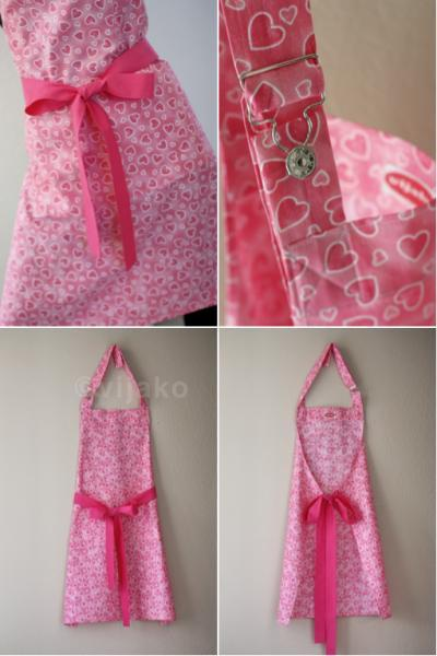 Beautiful hot pink hostess adjustable full apron