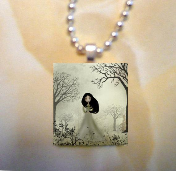 Scrabble Tile Art Pendant  - Ides of March