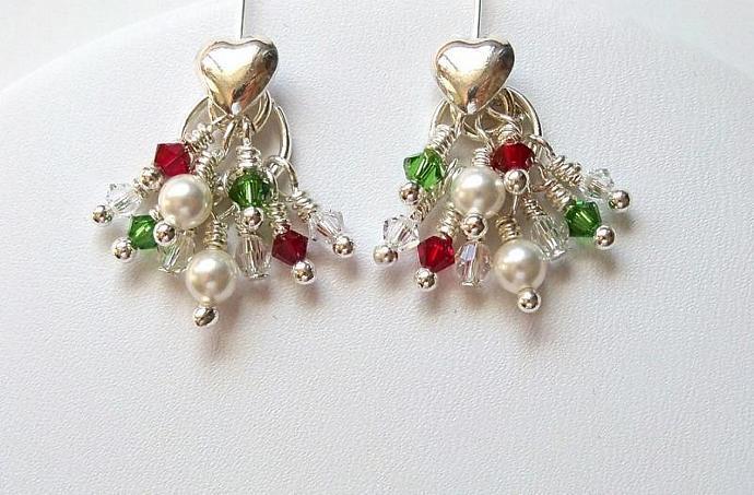 Earrings Christmas Cascade