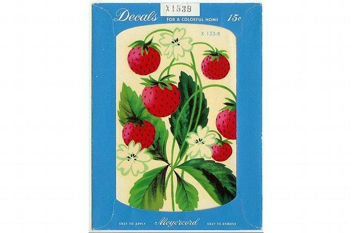 Meyercord Decal Strawberry Strawberries Vintage 1950s