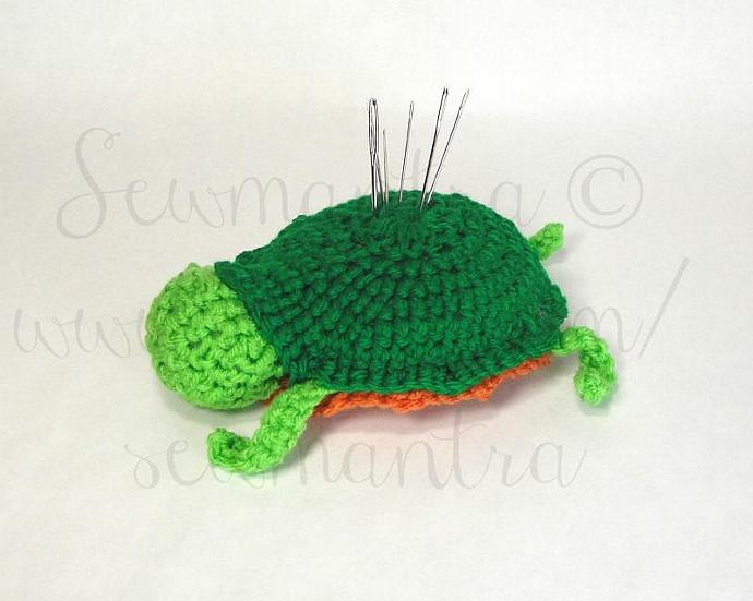 Alabama Red-Bellied Turtle Pincushion PATTERN