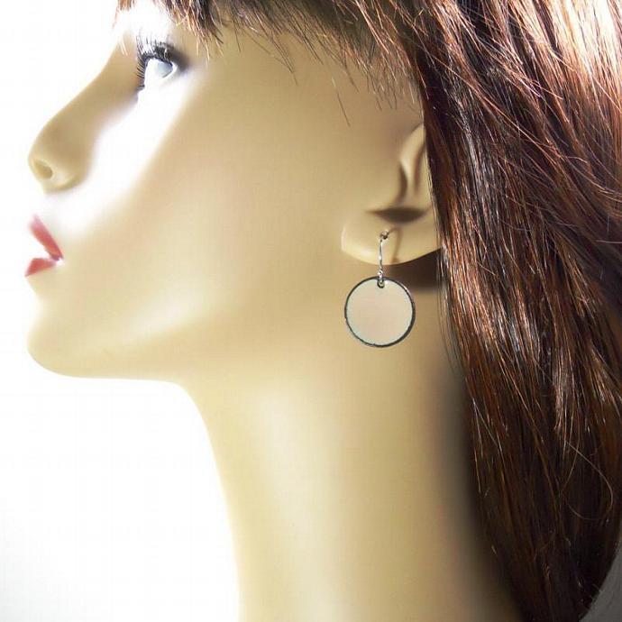 Sandalwood Penny Earrings