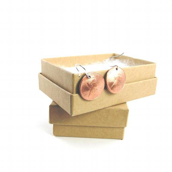 Yellow Penny Earrings