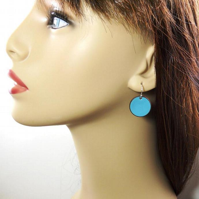 Blue Penny Earrings