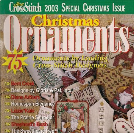 Just crossstitch 2003 christmas ornament by for Country living magazine cross stitch