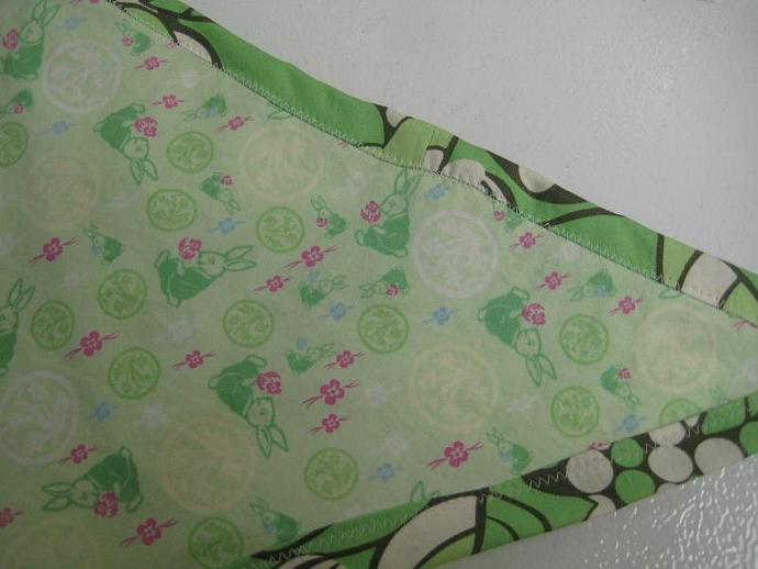 Rabbit Patch Mint Green and Pink Teddy Bed (Toy Hammock) - Size Medium