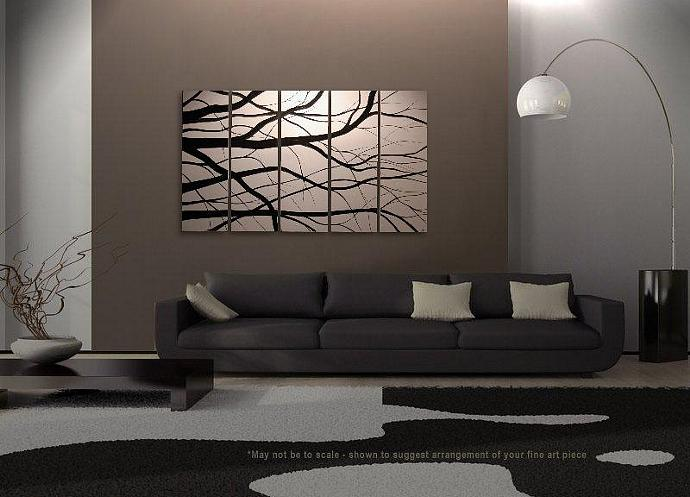 60x36 CUSTOM Elegant Tree Branches Painting Modern