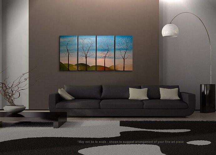 60x30 Large CUSTOM Tree Painting Four Seasons