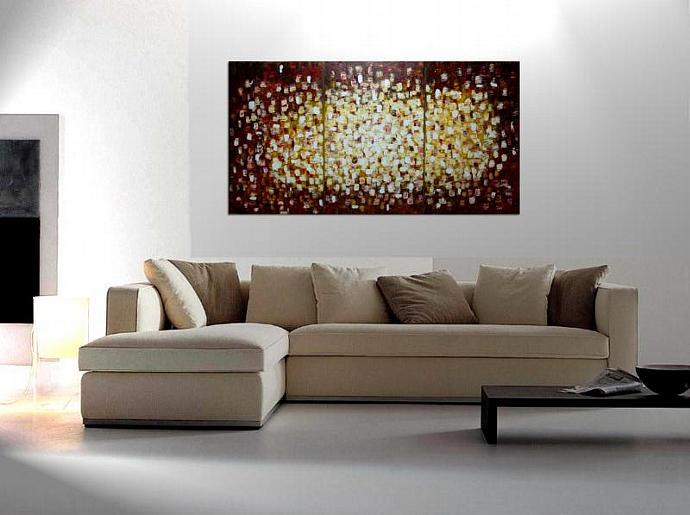 72x36 Large Custom Modern Abstract Textured Art