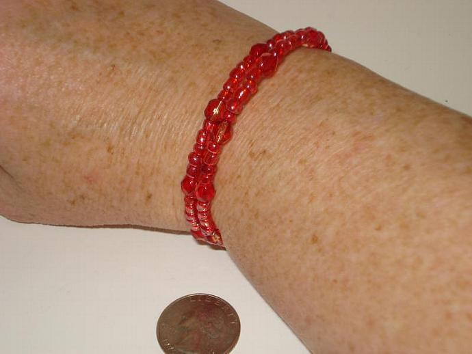 Sparkling Memory Wire Beaded Bracelet