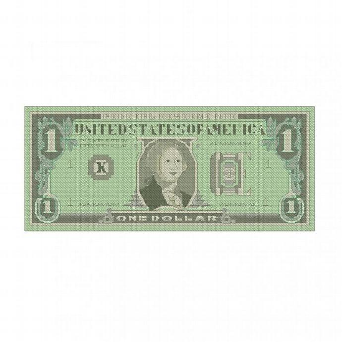 ALL STITCHES - DOLLAR BILL CROSS STITCH PATTERN .PDF -588