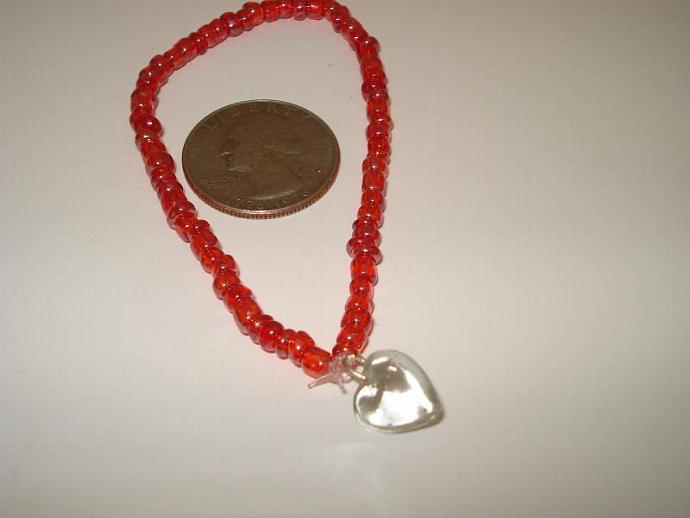 Simple & Sweet Heart  Beaded Bracelet