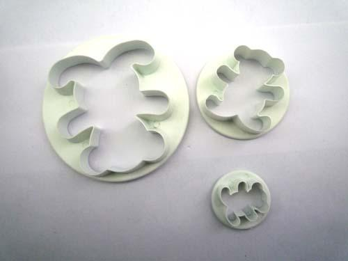Teddy Bear Fondant Biscuit Cookie Cutter Stamp Mold