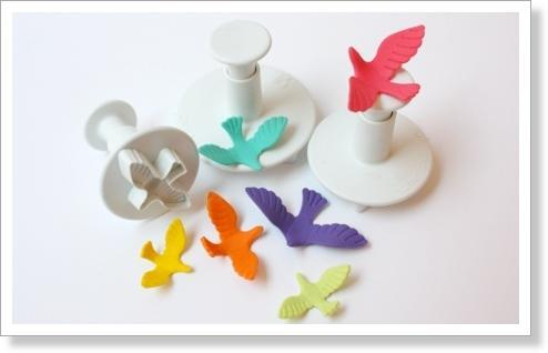 Dove Fondant Cookie Cutter Plunger Press Mold