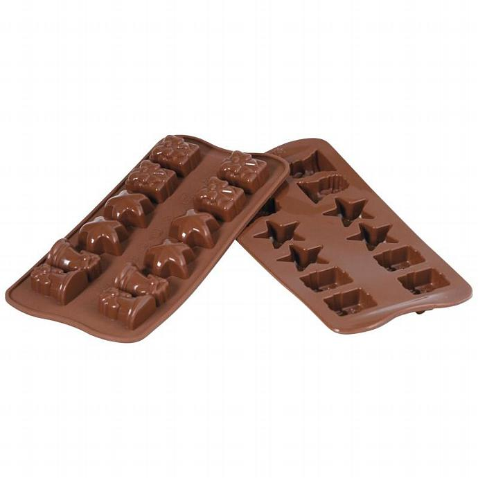 Silicone Christmas Holiday Chocolate Candy Jelly Soap Candle Ice Tray Mold Pan