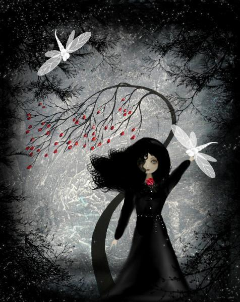 Dark Fantasy Art Print --- The Night