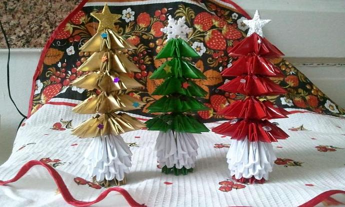 3d Origami Christmas tree (small)