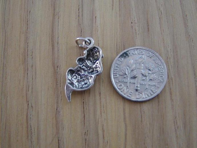 Sea Otter Sterling Silver Charm