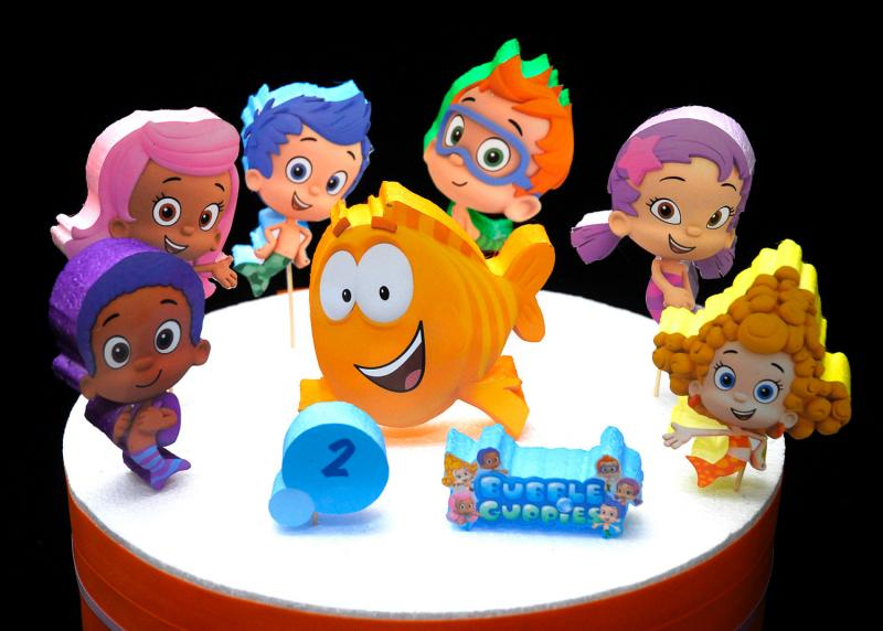 bubble guppies cake toppers guppies cake topper adianezh 2100